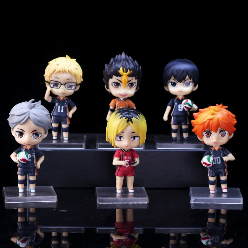 6pcs/set Haikyuu PVC Anime Model Action Figurine Model