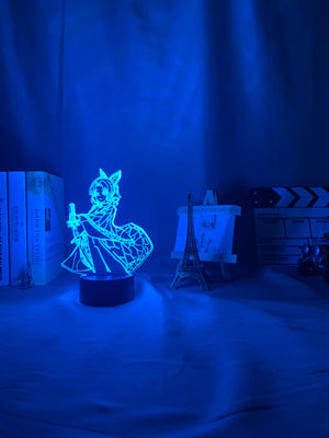 blue 3d Lamp Anime Demon Slayer Kocho Kanae