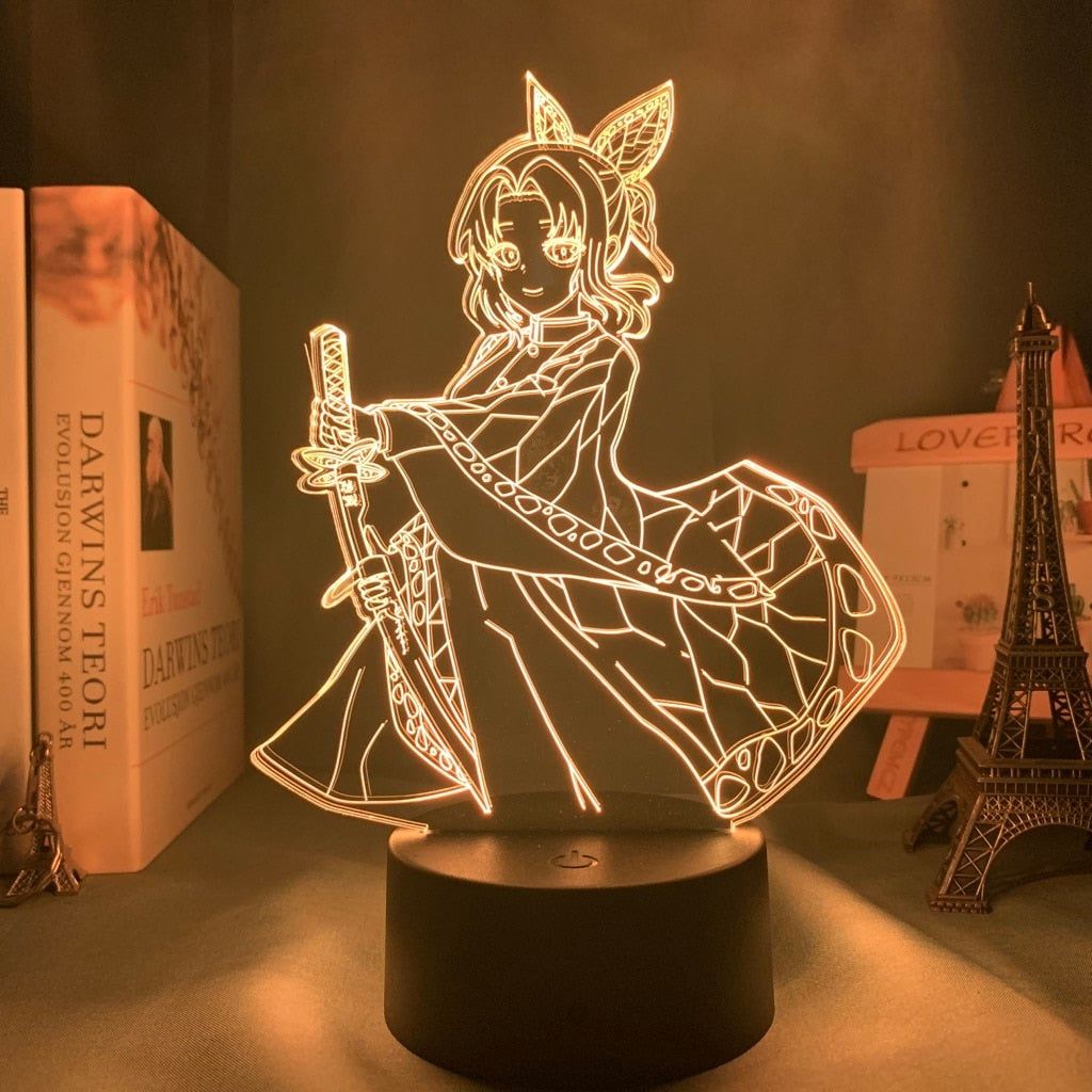 yellow 3d Lamp Anime Demon Slayer Kocho Kanae