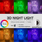 red, green, purple, yellow, blue, pink 3d Lamp Anime My Hero Academia Shoto Todoroki