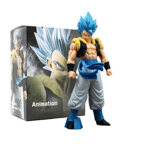 Dragon Ball Z Blue Gogeta Goku PVC Anime Model Action Figurine  with box