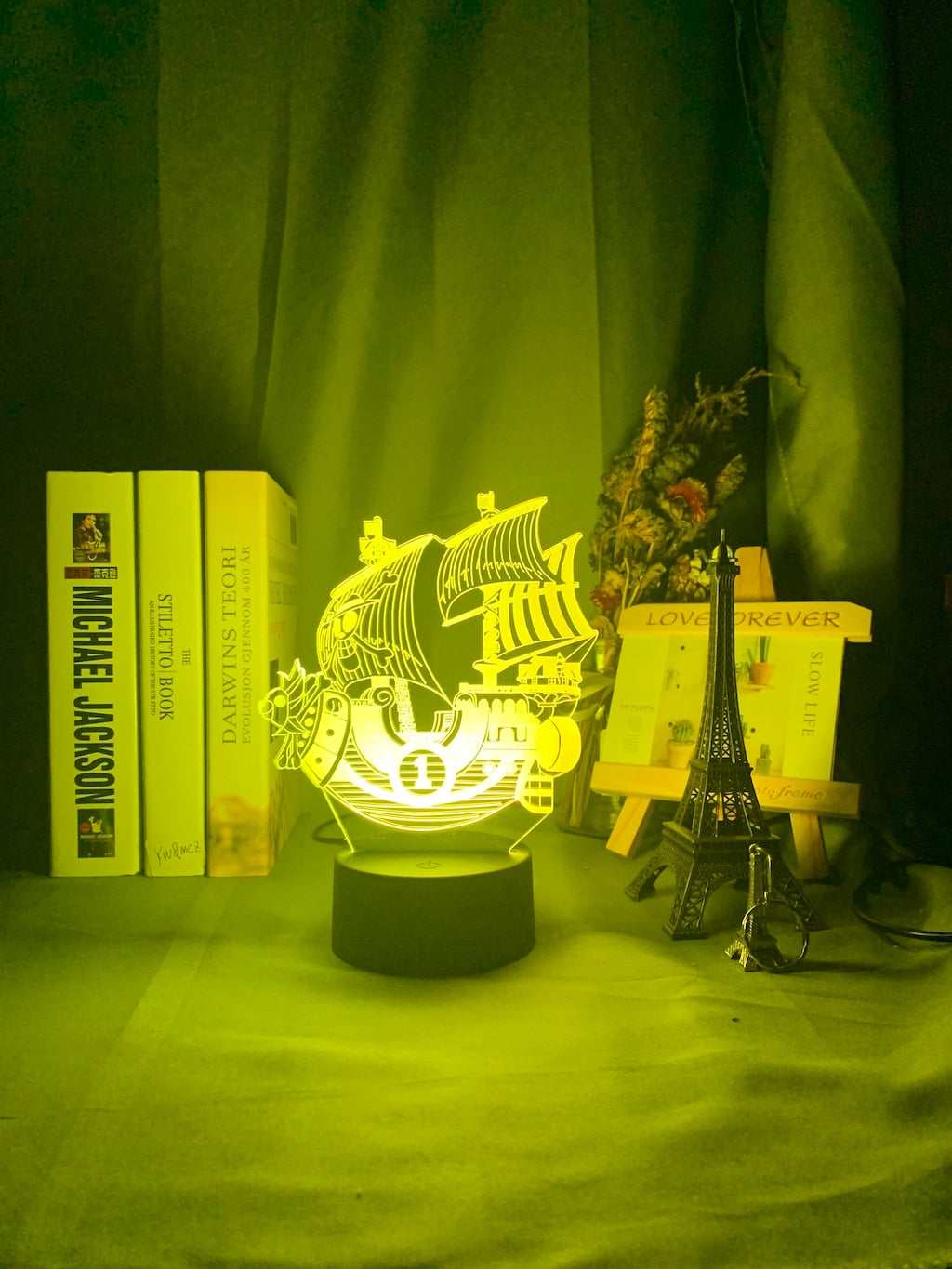 yellow ONE PIECE Thousand Sunny Ship 3D LED Lamp