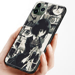 black and white Mei Misaki Another Anime Soft Silicone Phone Case for IPhone