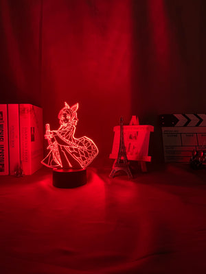 red 3d Lamp Anime Demon Slayer Kocho Kanae