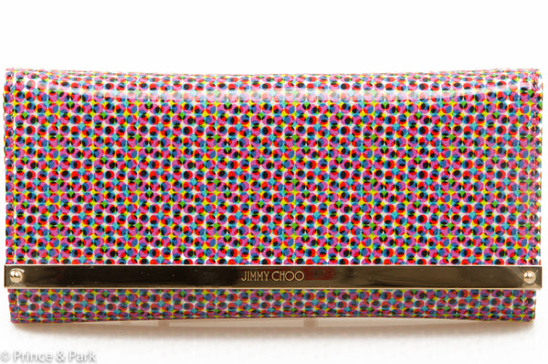 Milla Polka-Dot Clutch
