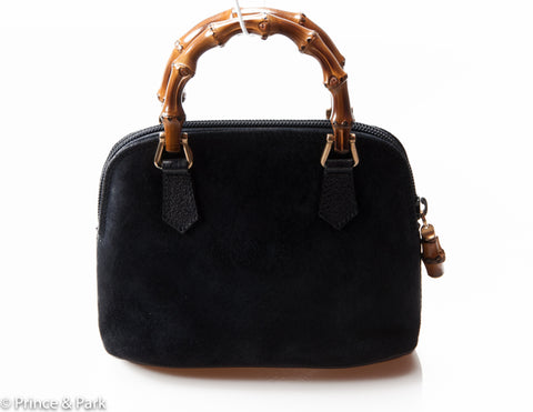Bamboo Top Handle Mini Handbag