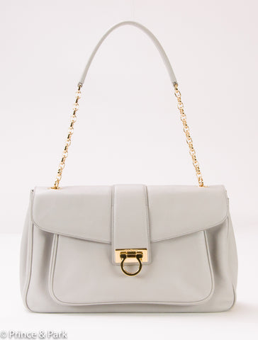 Gancini Flap Shoulder Bag
