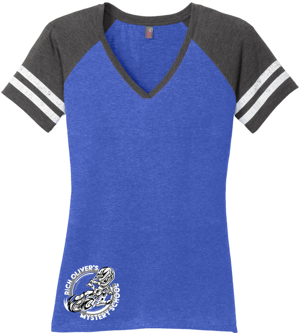 Rich Oliver's Mystery School Women's Jersey Tee with Circle logo