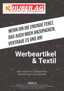 Werbemittel Katalog - Huber AG Exhibition Management Messebau Online Shop