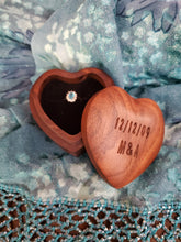 Load image into Gallery viewer, Ring Box Heart Shaped