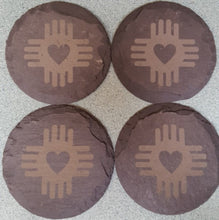 Load image into Gallery viewer, Slate Coasters Set of 4