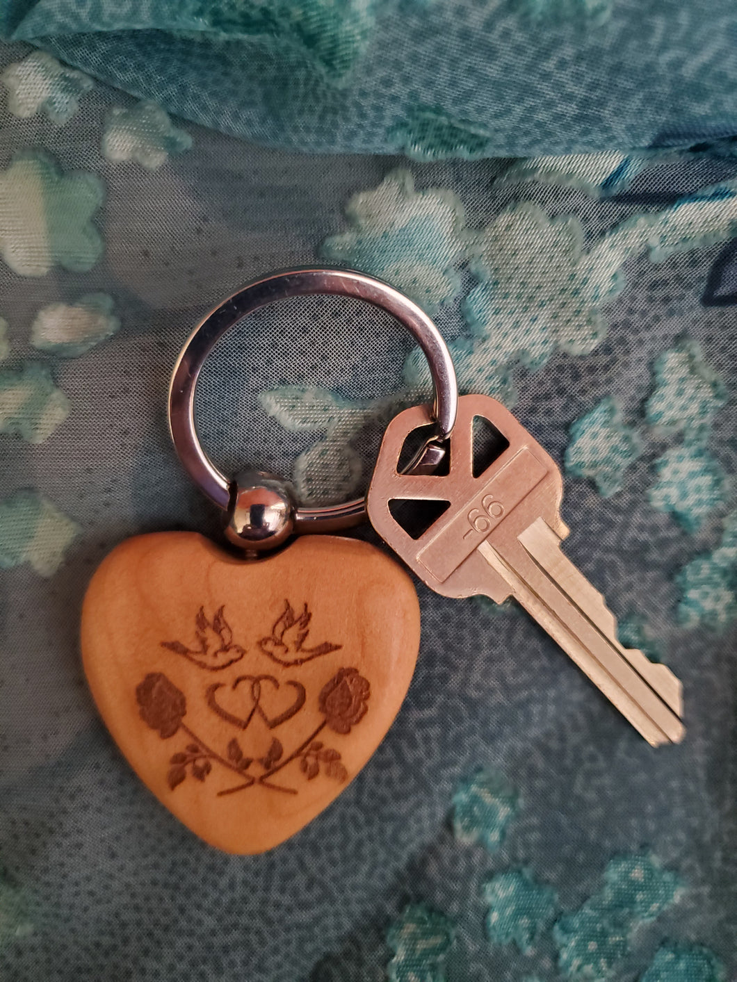 Key Ring | Heart Engraved