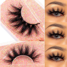Load image into Gallery viewer, New Makeup Eyelashes 3D Mink Lashes Fluffy Soft Wispy Volume Natural long Cross False Eyelashes Eye Lashes Reusable Eyelash