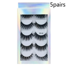 Load image into Gallery viewer, Fashion 5 Pairs 3D False Eyelashes Thick Volume Natural Extension Eyelashes Portable High Quality Beauty Makeup Tool Dropship
