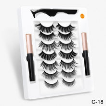 Load image into Gallery viewer, SEXYSHEEP  Magnetic Eyelashes 3D Mink False Lashes Magnetic Eyeliner Waterproof Liquid  Set Lasting Handmade Eyelash Makeup Tool
