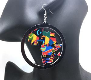 Africa Round Earrings