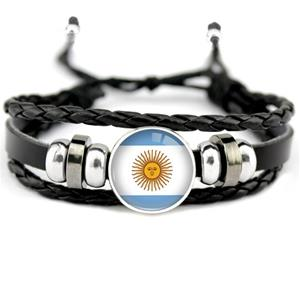 Argentina flag Leather Bracelets
