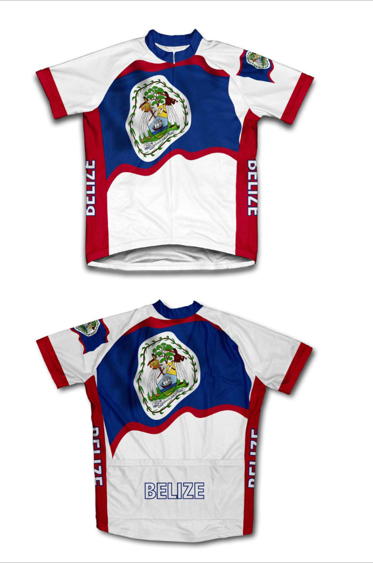 Belize Flag Cycle Jersey Shirt