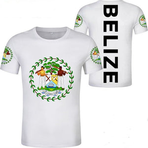 Belize Coat of Arm with Belize on the back White T-Shirt