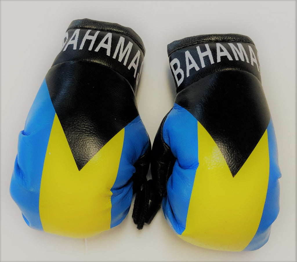 Bahamas Flag Mini Boxing Gloves