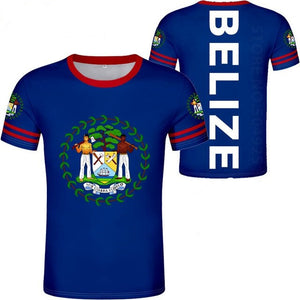 Belize Coat of Arm with Belize at the Back T-Shirts