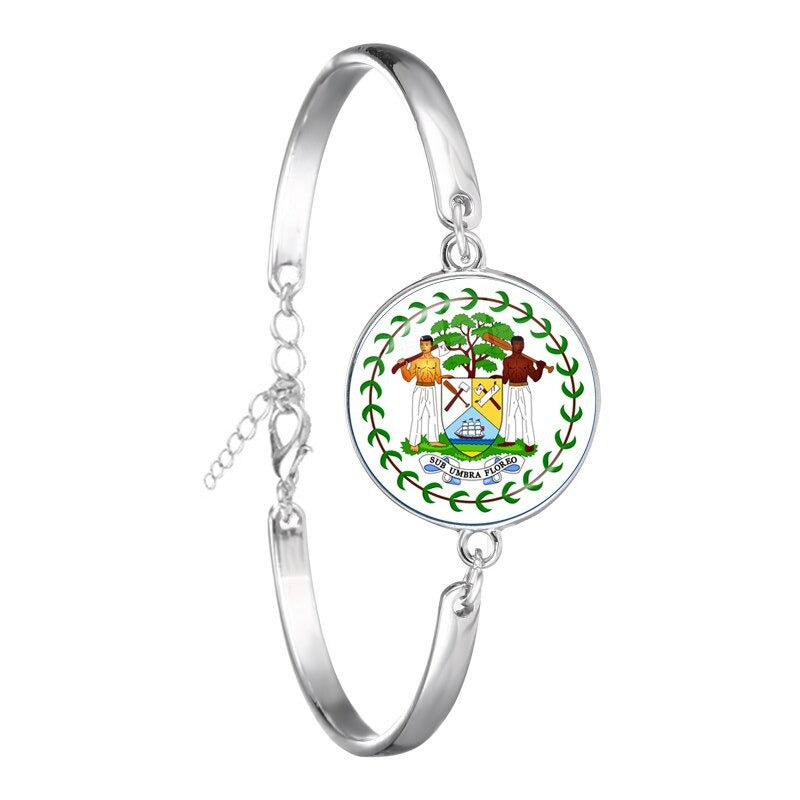 Belize Coat of Arm Flag Bracelets