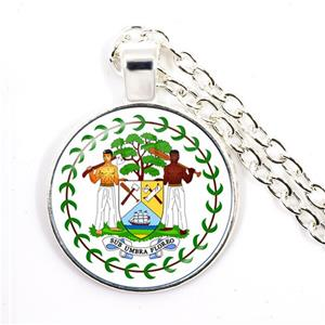 Belize Coat of Arm Round Necklaces
