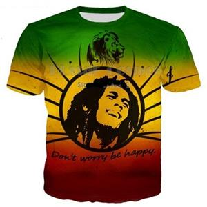 Bob Marley Don't Worry Be Happy T-Shirts