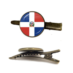 Dominican Rep Flag Tie Clip for Men