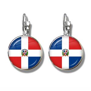 Dominican Rep. Flag Clip Earrings