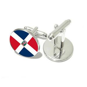 Dominican Rep. Flag Cufflinks