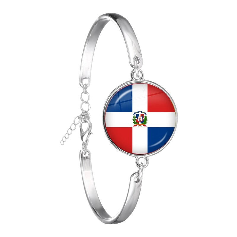Dominican Rep. Flag Bracelets