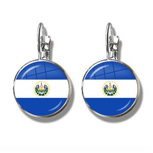 El Salvador Flag Clip Earrings