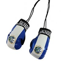 El Salvador Flag Mini Boxing Gloves