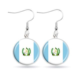 Guatemala Flag Hook Earrings