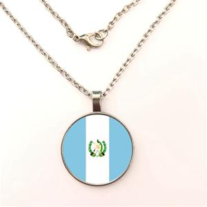Guatemala Flag Round Necklaces