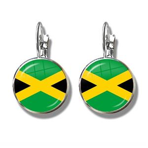 Jamaica Flag Clip Earrings