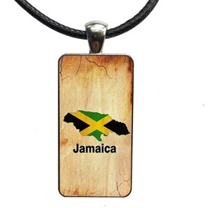 Jamaica Flag Map Necklaces