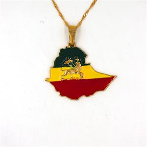 Lion of Judah Map Necklaces