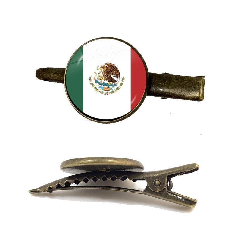 Mexico Flag Tie Clip for Men