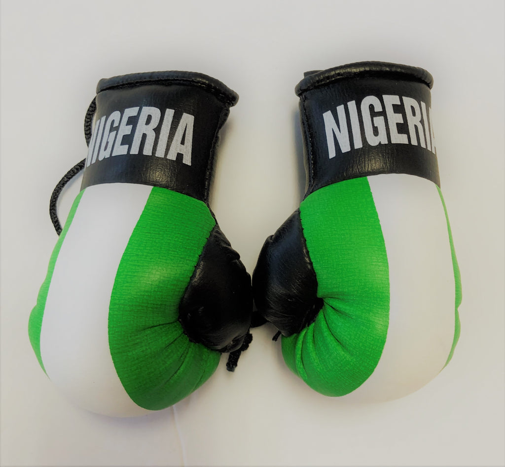 Nigeria Flag Mini Boxing Gloves