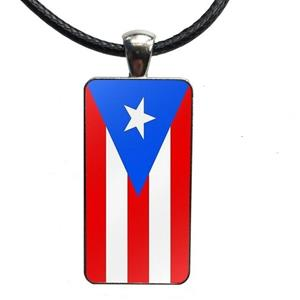 Puerto Rico Flag Necklaces