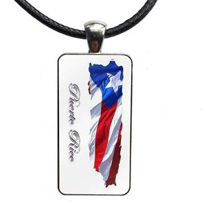 Puerto Rico Map Necklaces