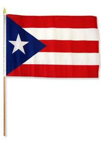 Puerto Rico Stick Flags