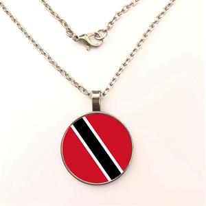 Trinidad & Tobago Flag Round Necklaces
