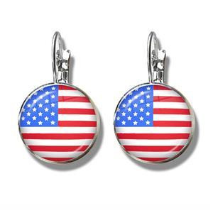 United States Flag Clip Earrings