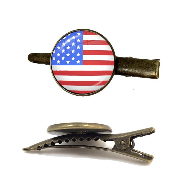 United States Flag Tie Clip for Men
