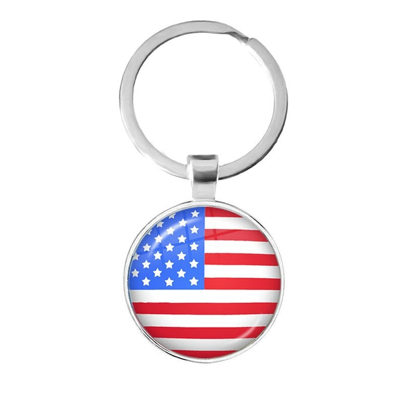 United States Flag Keyring