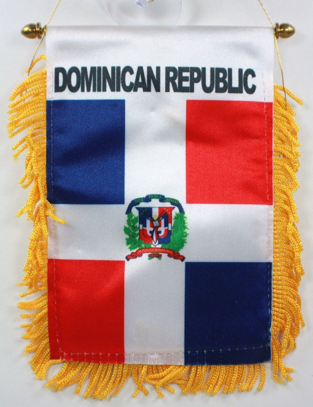 Dominican Rep Flag Mini Banner