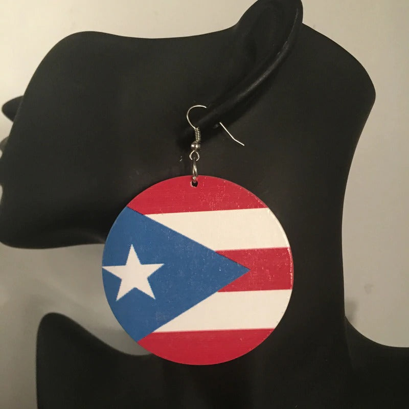 Puerto Rico Flag Earrings